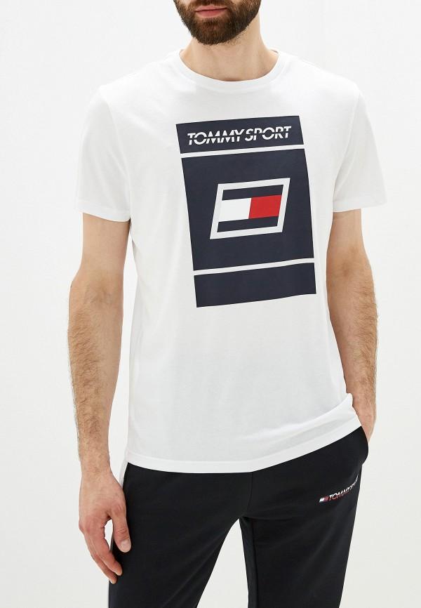 мужская футболка tommy sport, белая