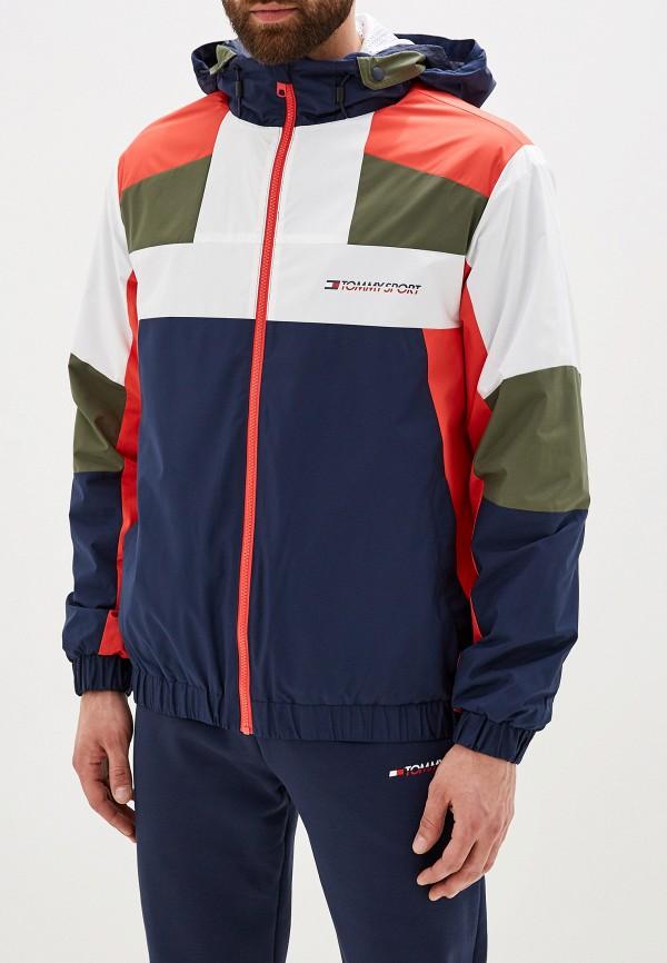 мужская куртка tommy sport, разноцветная