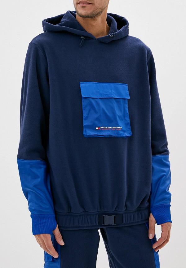 мужские худи tommy sport, синие