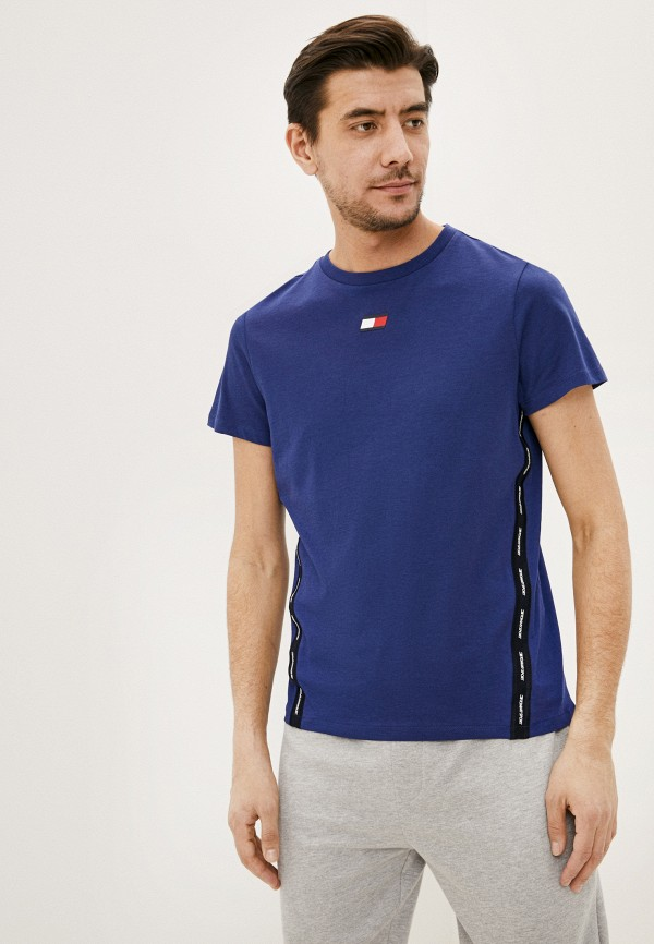 мужская футболка tommy sport, синяя
