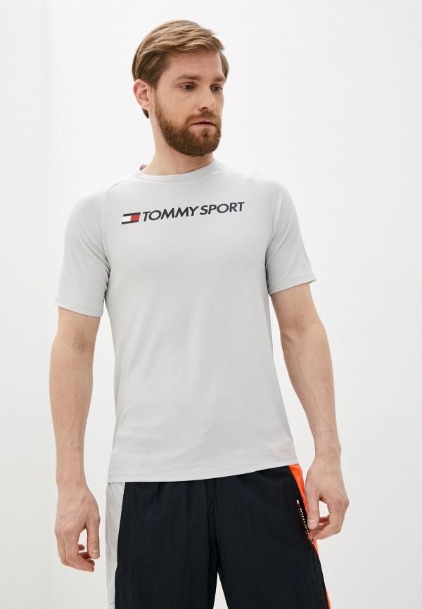 мужская спортивные футболка tommy sport, серая