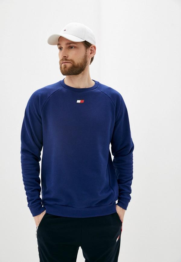 мужской спортивные свитшот tommy sport, синий