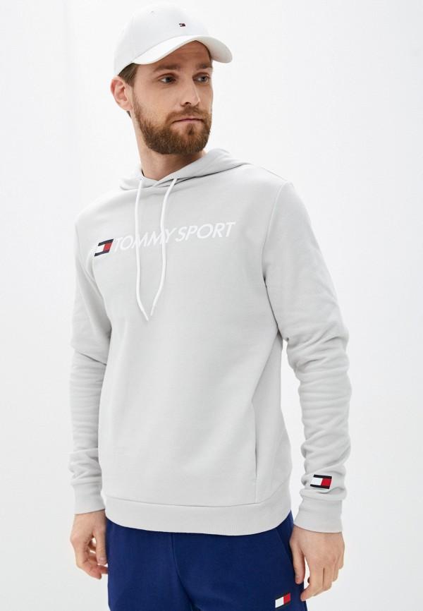 мужские худи tommy sport, серые