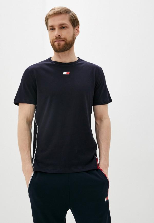мужская спортивные футболка tommy sport, синяя
