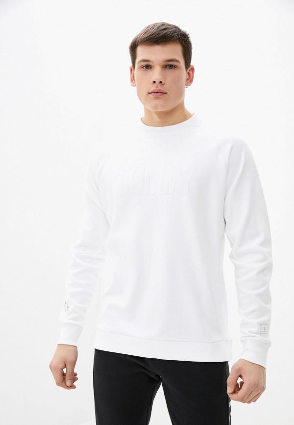 мужской свитшот tommy sport, белый