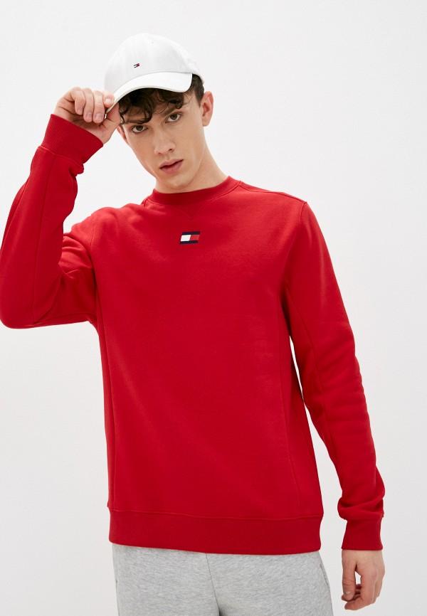 мужской свитшот tommy sport, красный