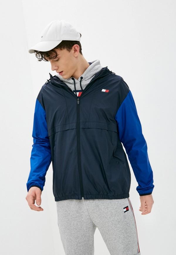 мужская ветровка tommy sport, синяя