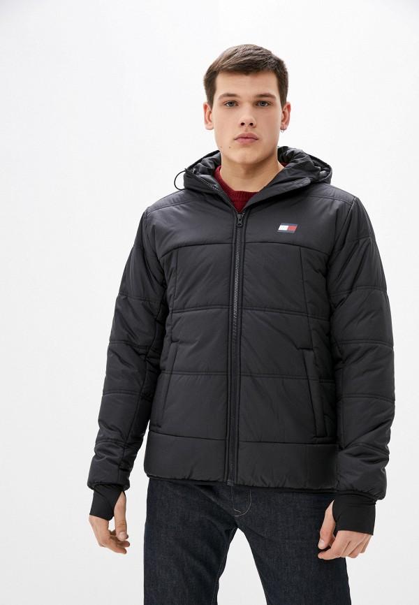 мужская куртка tommy sport, черная