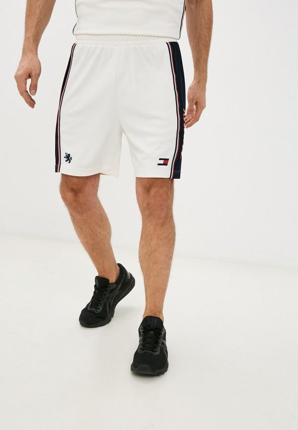мужские спортивные шорты tommy sport, белые
