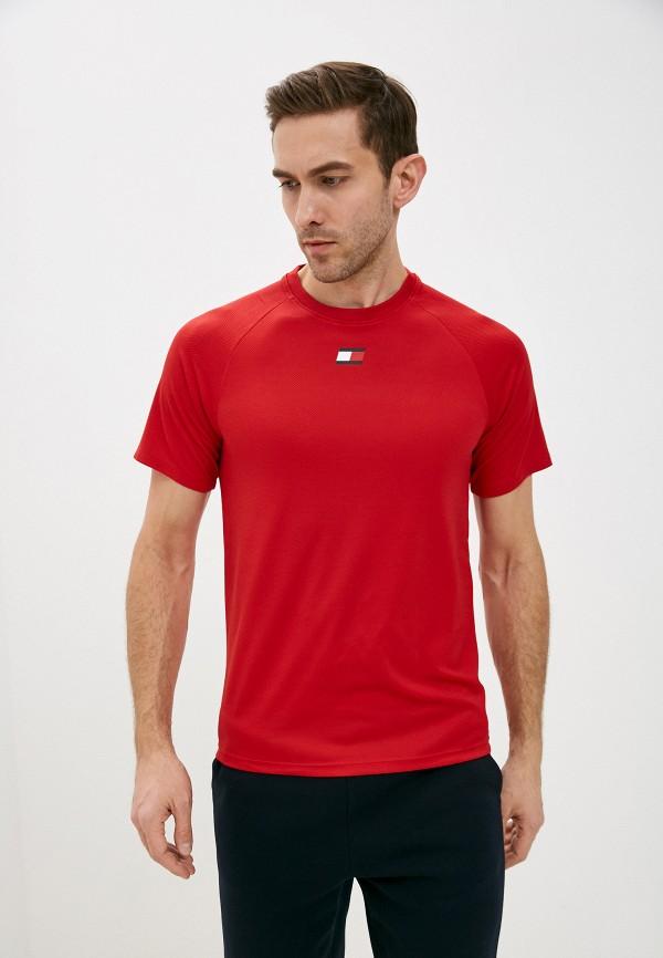 мужская спортивные футболка tommy sport, красная