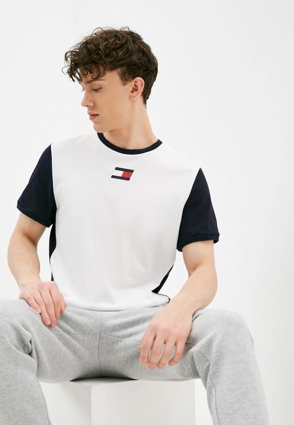 мужская спортивные футболка tommy sport, белая