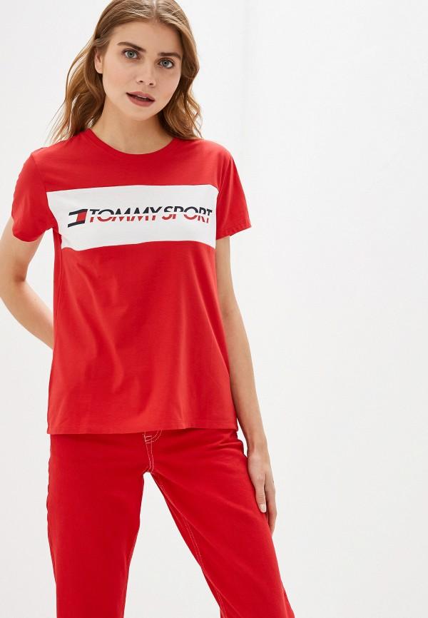 Фото - Футболку Tommy Sport красного цвета