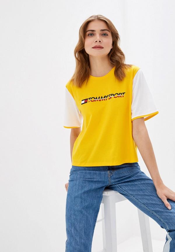Фото - Футболку Tommy Sport желтого цвета