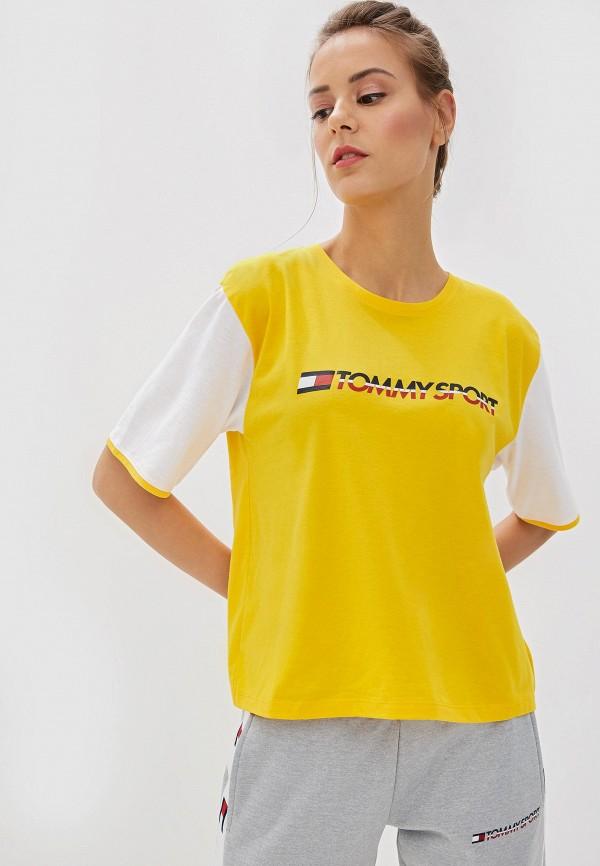 Фото 4 - Футболку Tommy Sport желтого цвета
