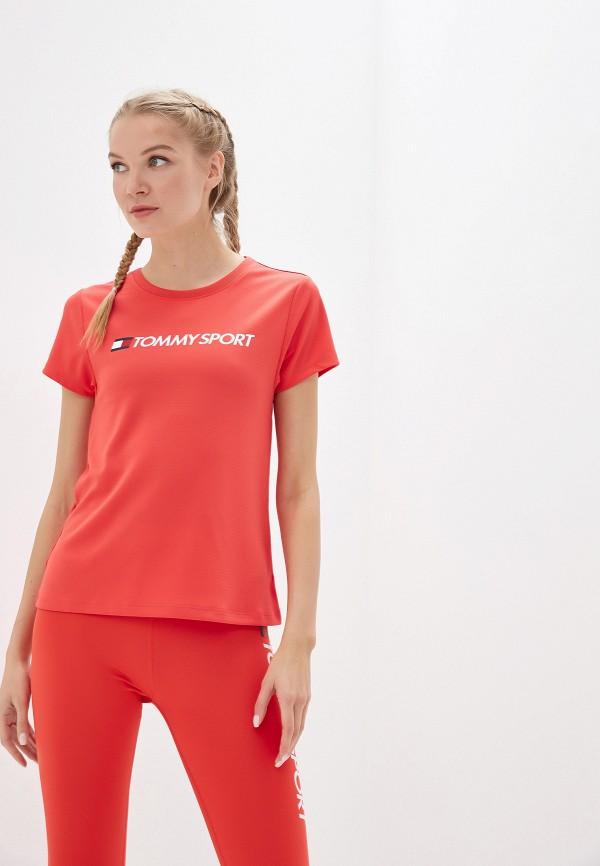 женская футболка tommy sport