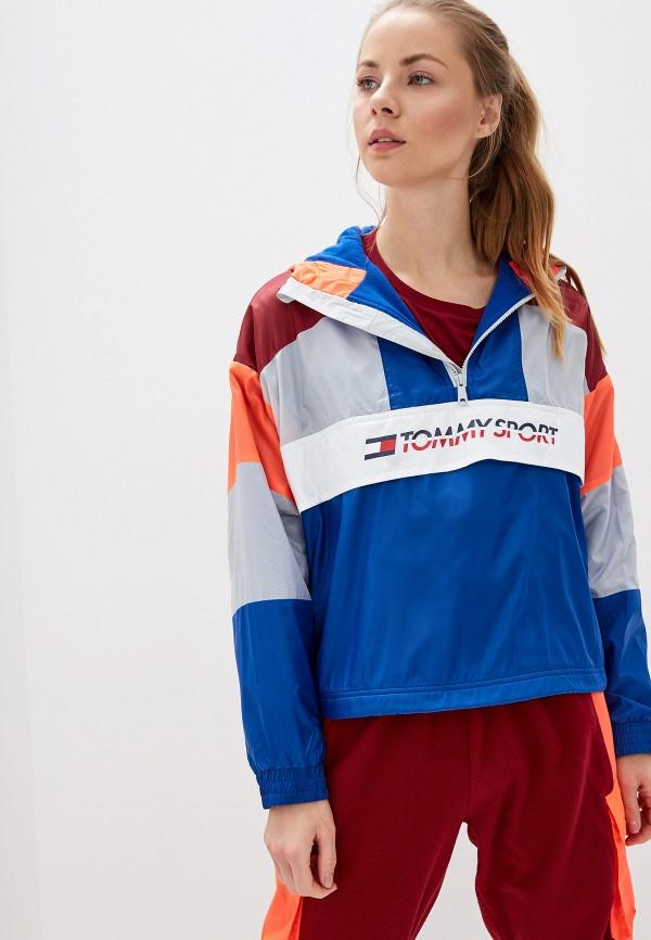 женская ветровка tommy sport, разноцветная