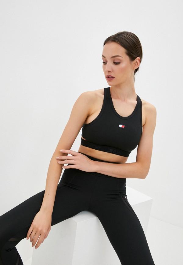женский спортивный костюм tommy sport, черный