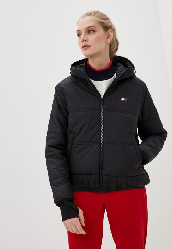 женская куртка tommy sport, черная