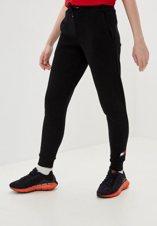 женские спортивные брюки tommy sport, черные