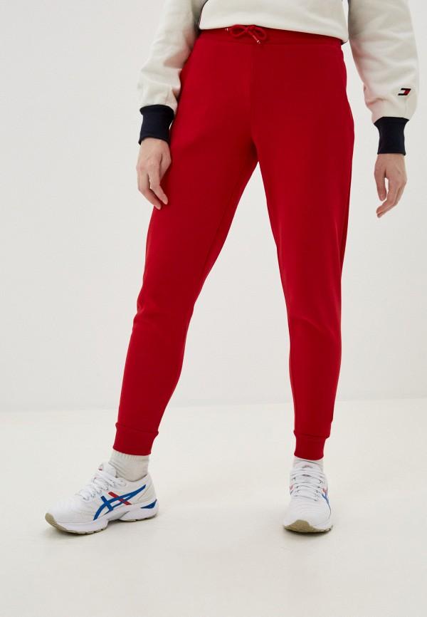 женские спортивные брюки tommy sport, красные