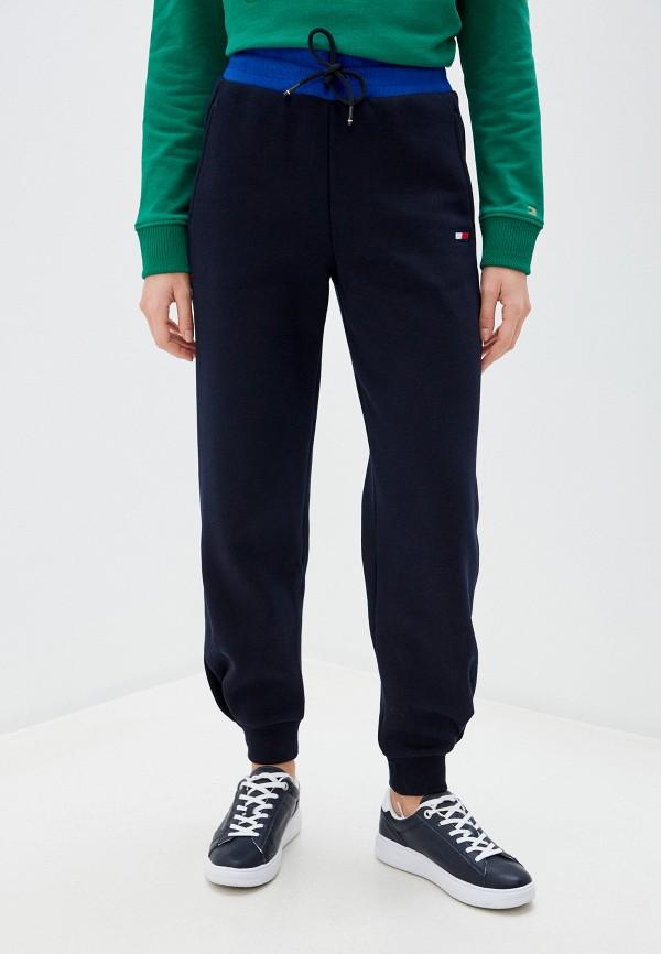 женские спортивные брюки tommy sport, синие