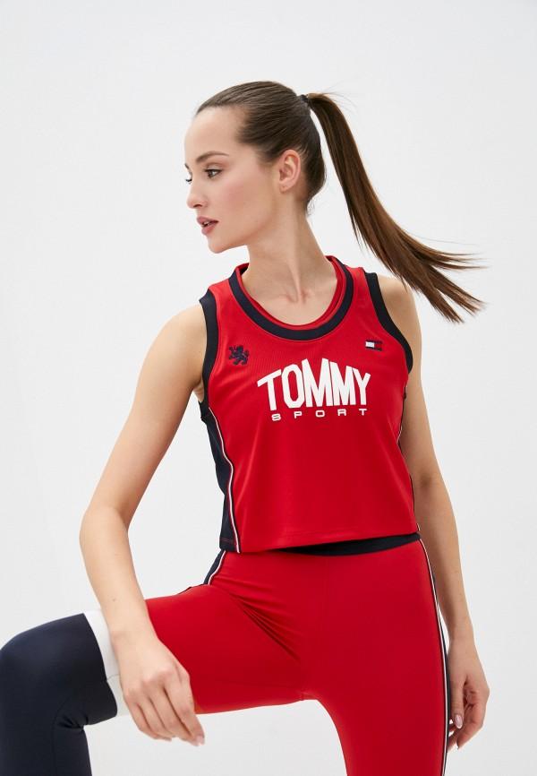 женский спортивный костюм tommy sport, красный