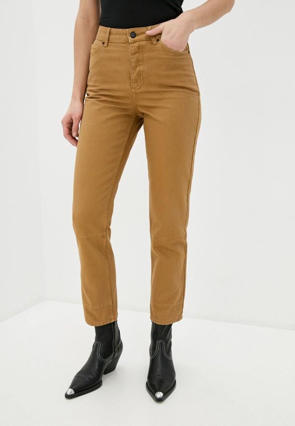 женские повседневные брюки topshop boutique, коричневые