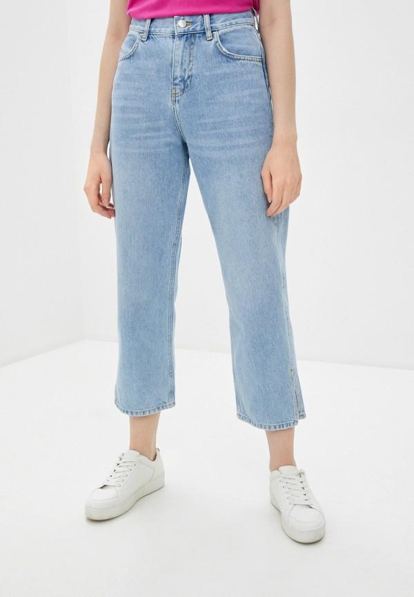 женские прямые джинсы topshop boutique, голубые