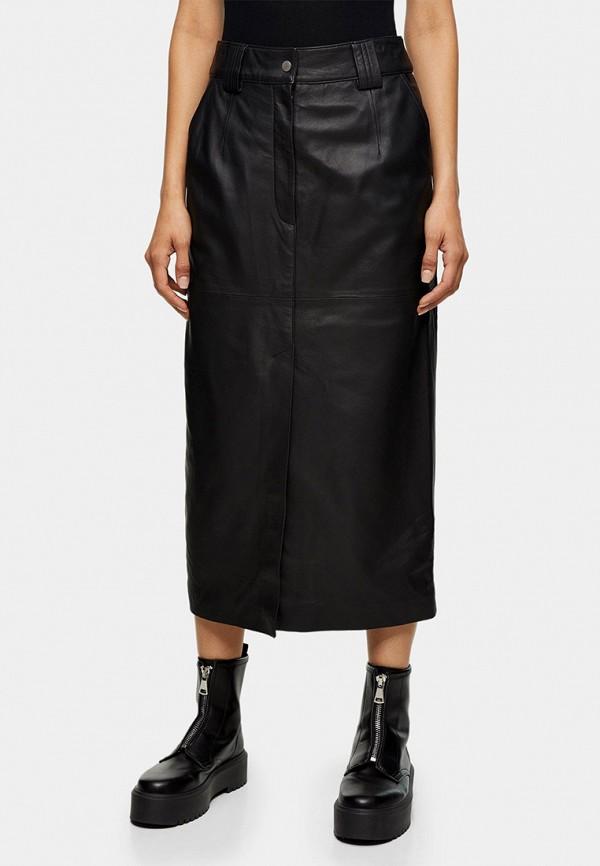 женская юбка topshop boutique, черная
