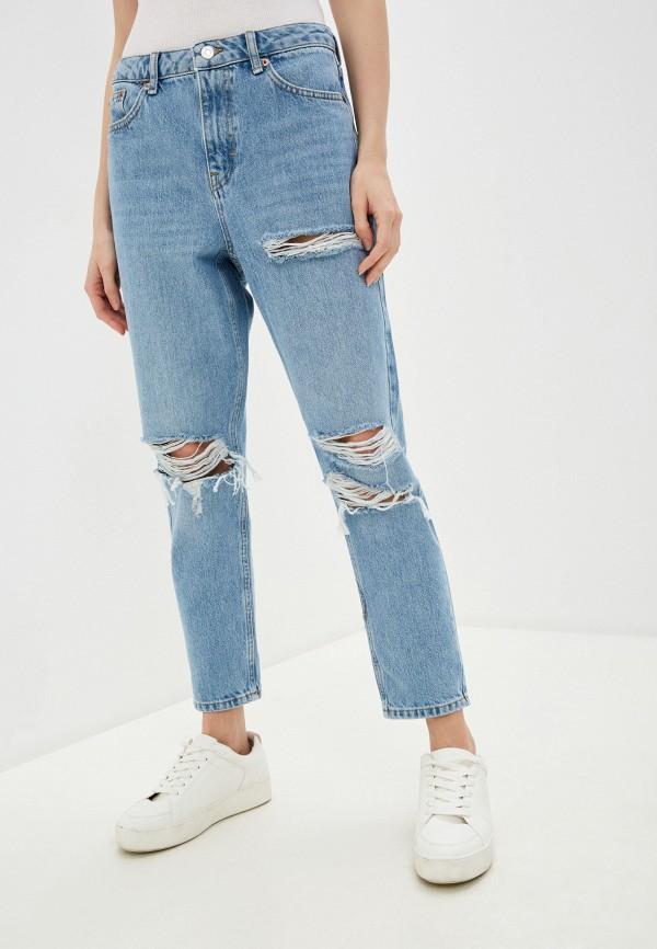 женские джинсы topshop petite, голубые