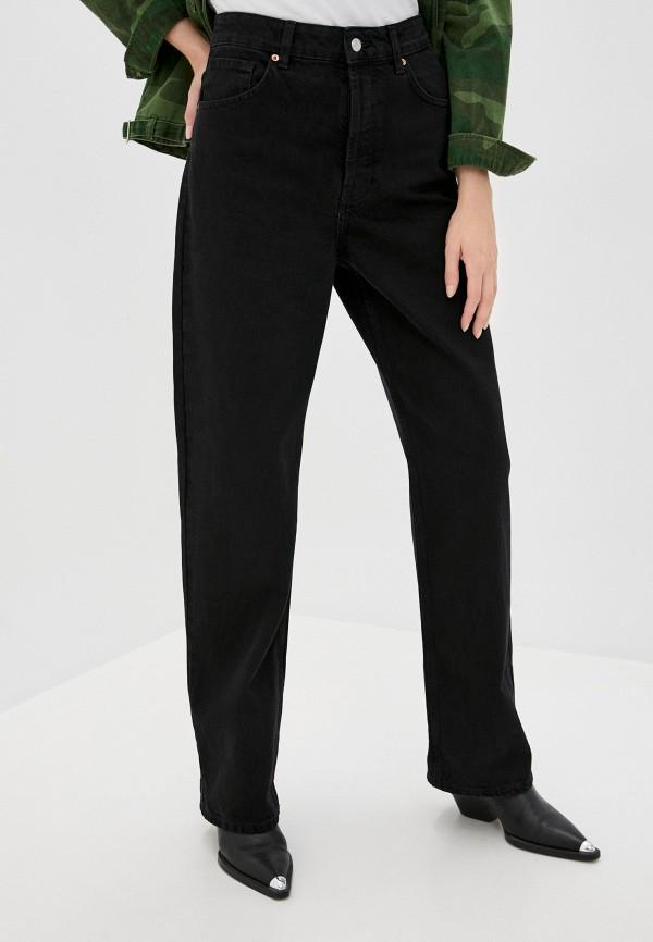 женские джинсы клеш topshop petite, черные