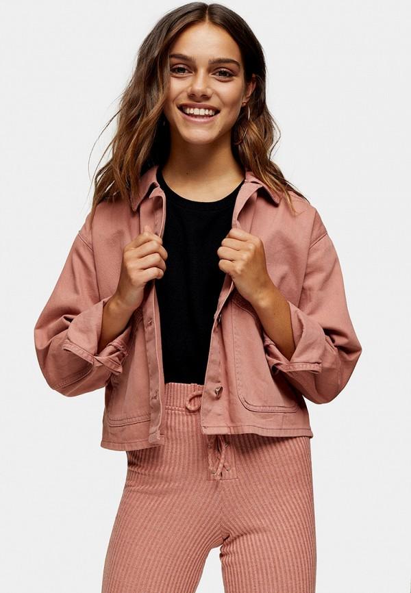 женская куртка topshop petite, розовая
