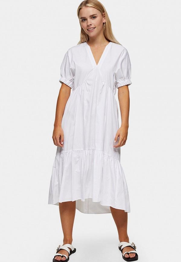 женское повседневные платье topshop petite, белое