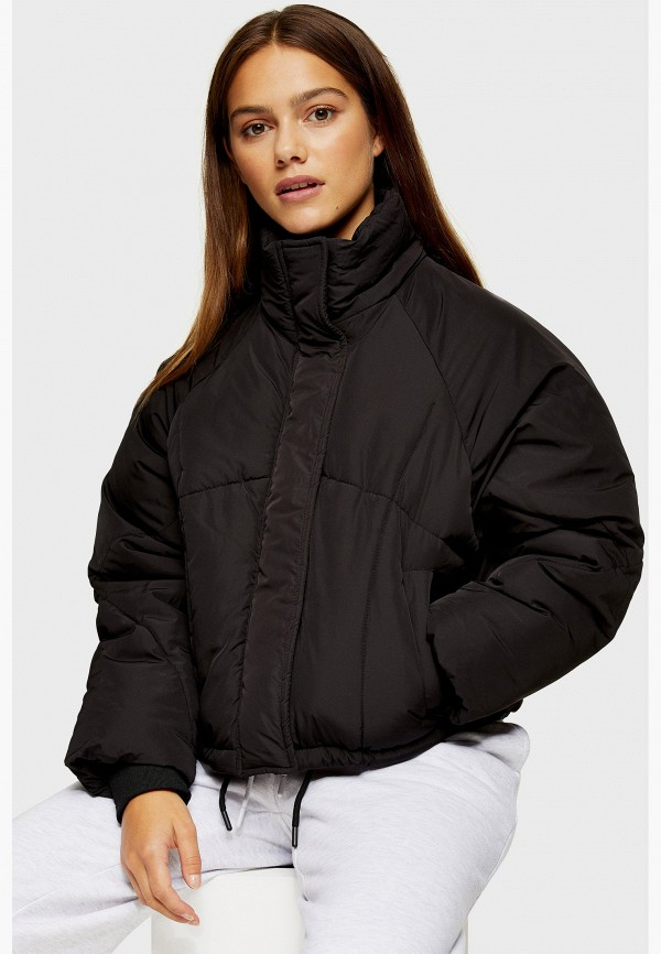 женская куртка topshop petite, черная
