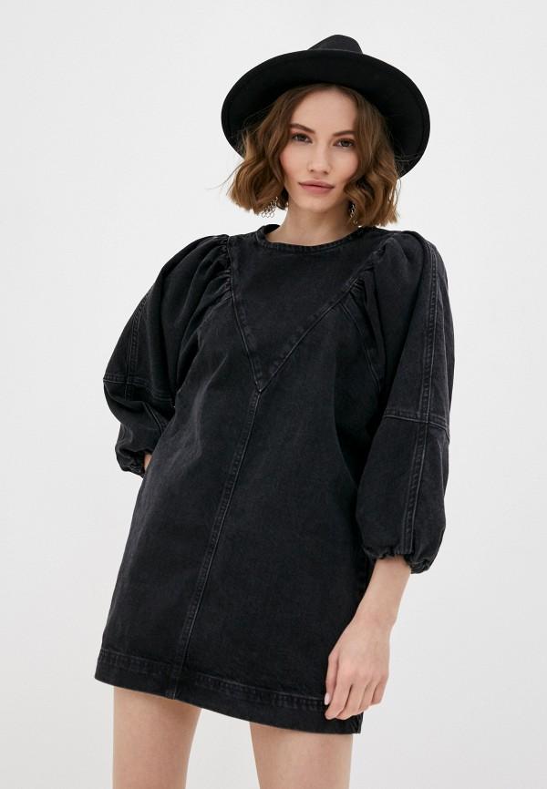 женское джинсовые платье topshop petite, черное