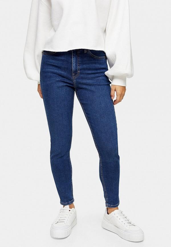 женские джинсы скинни topshop petite, синие