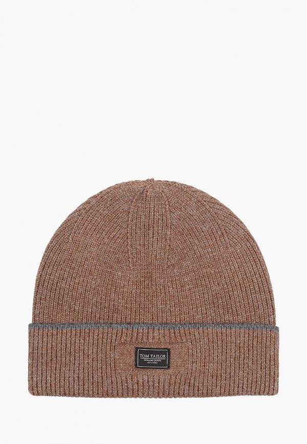 мужская шапка tom tailor, коричневая