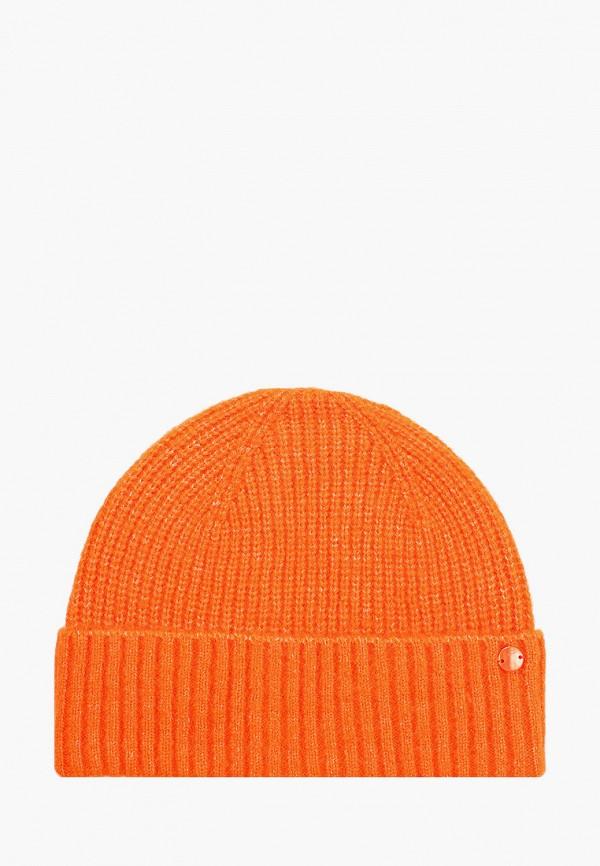 женская шапка tom tailor, оранжевая