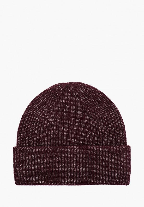 женская шапка tom tailor, бордовая