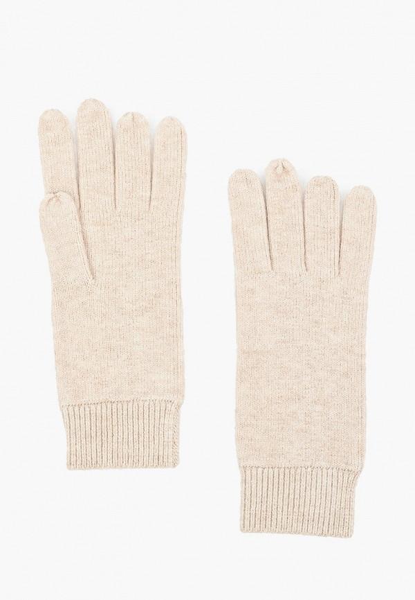 женские текстильные перчатки tom tailor, бежевые