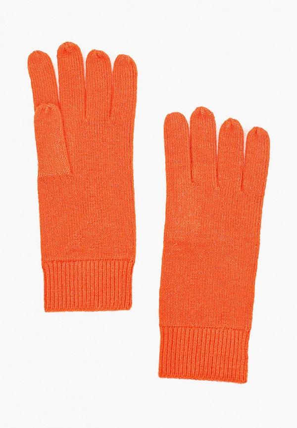 женские текстильные перчатки tom tailor, оранжевые