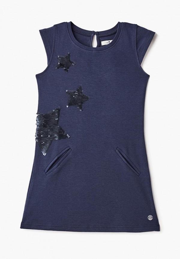 повседневные платье tom tailor для девочки, синее