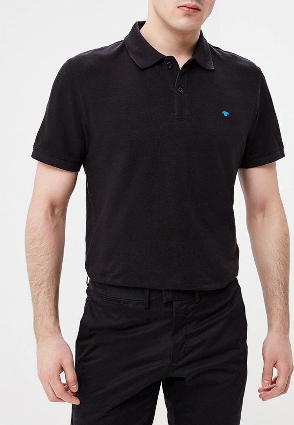Купить мужское поло Tom Tailor черного цвета