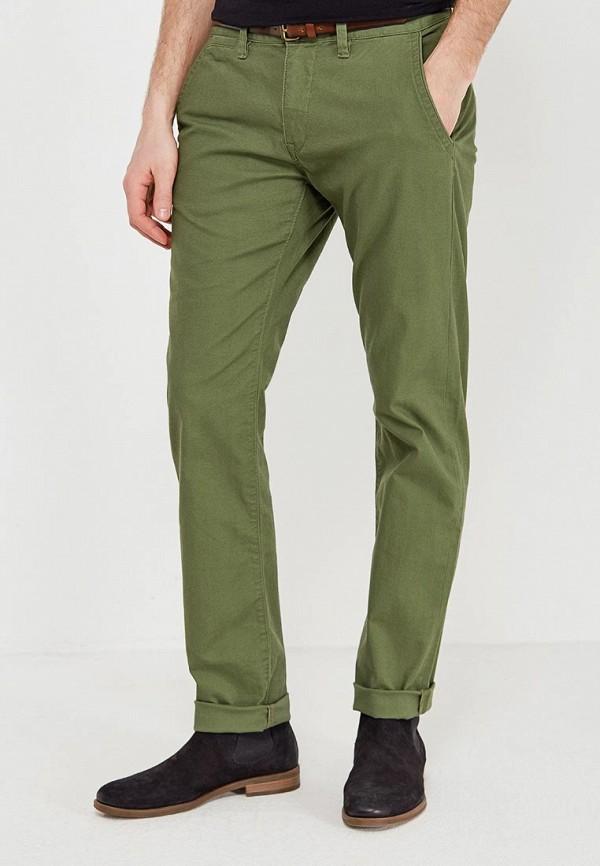 мужские зауженные брюки tom tailor, зеленые
