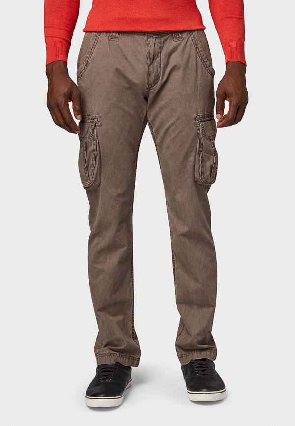 мужские повседневные брюки tom tailor, коричневые