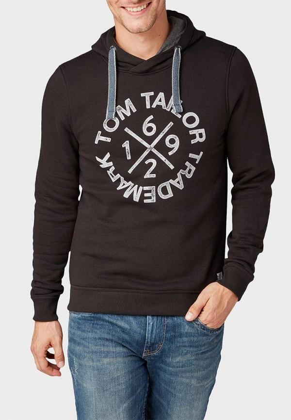 мужские худи tom tailor, черные