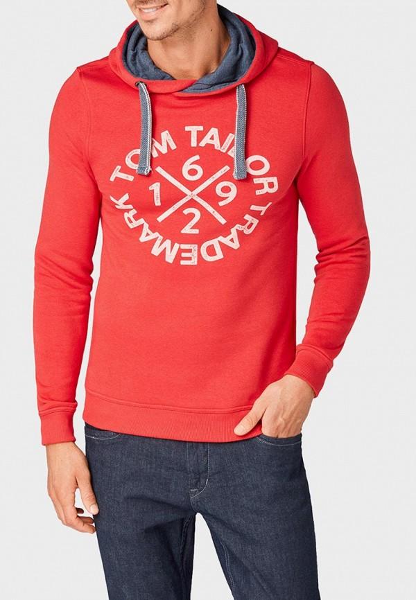 мужские худи tom tailor, красные