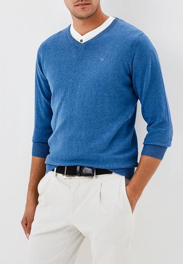 Пуловер  синий цвета