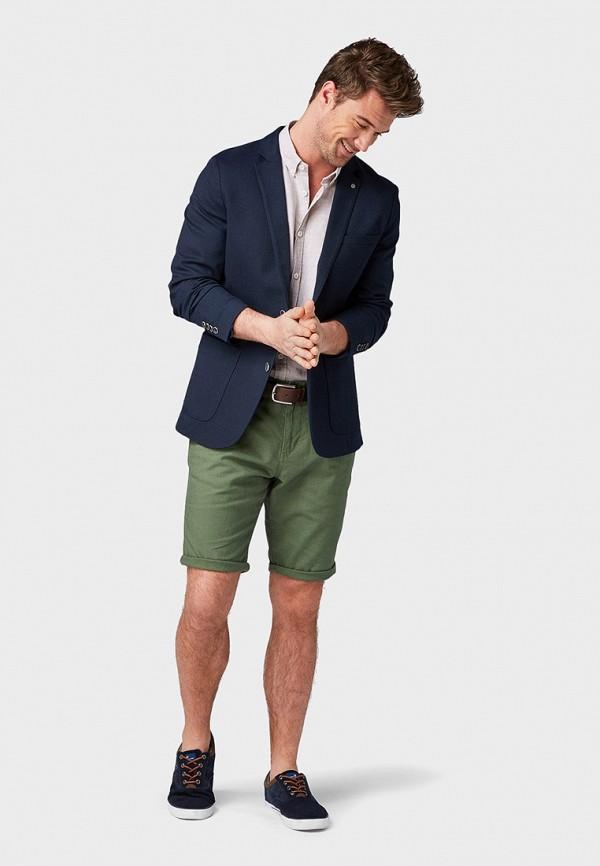 Фото 2 - мужские шорты Tom Tailor зеленого цвета