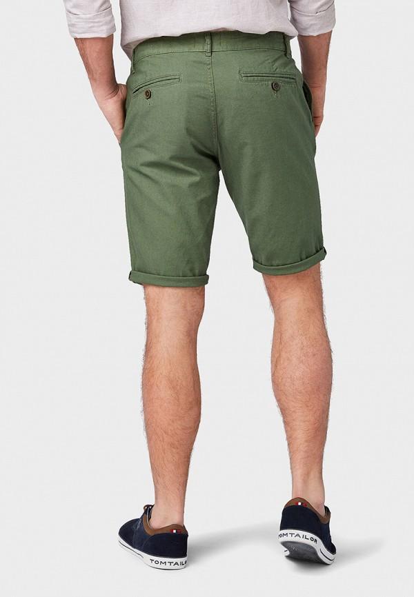 Фото 3 - мужские шорты Tom Tailor зеленого цвета